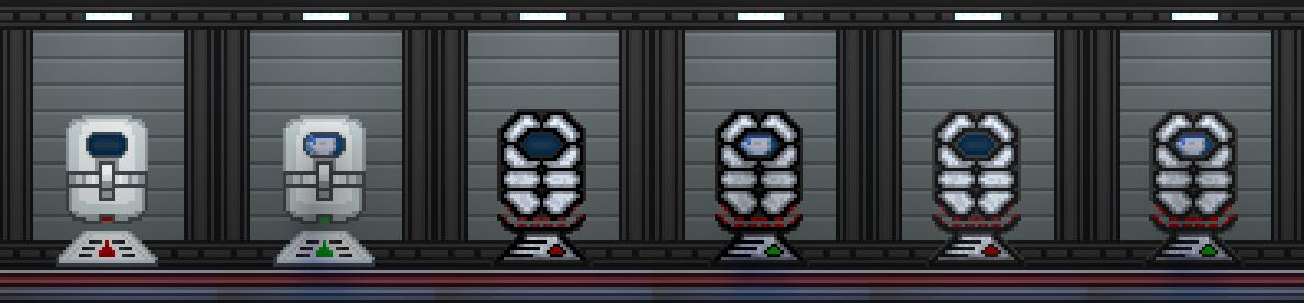 Starbound: Suspension Tank (Пауза-мод)