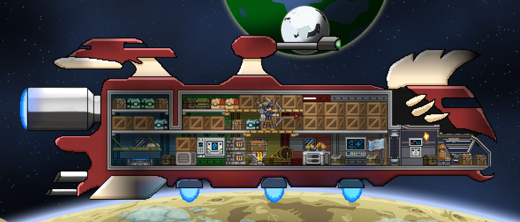 how to return to ship starbound