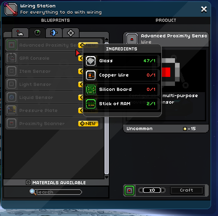 Advanced proximity sensor chucklefish forums usageg craftingg keyboard keysfo Gallery