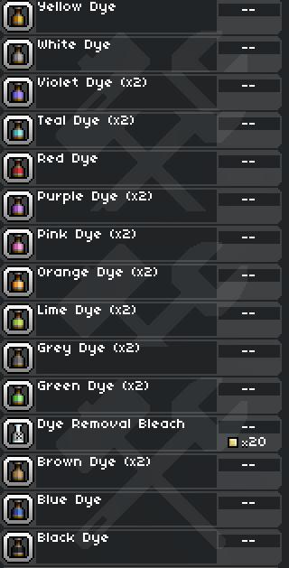 Starbound: Dye Mod (Больше красок)