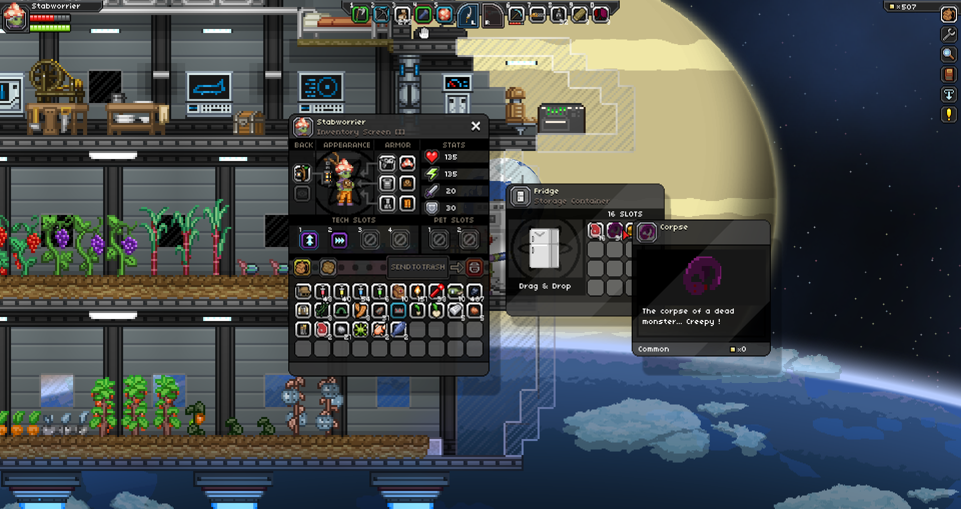 Starbound Is There A Way To Can Food